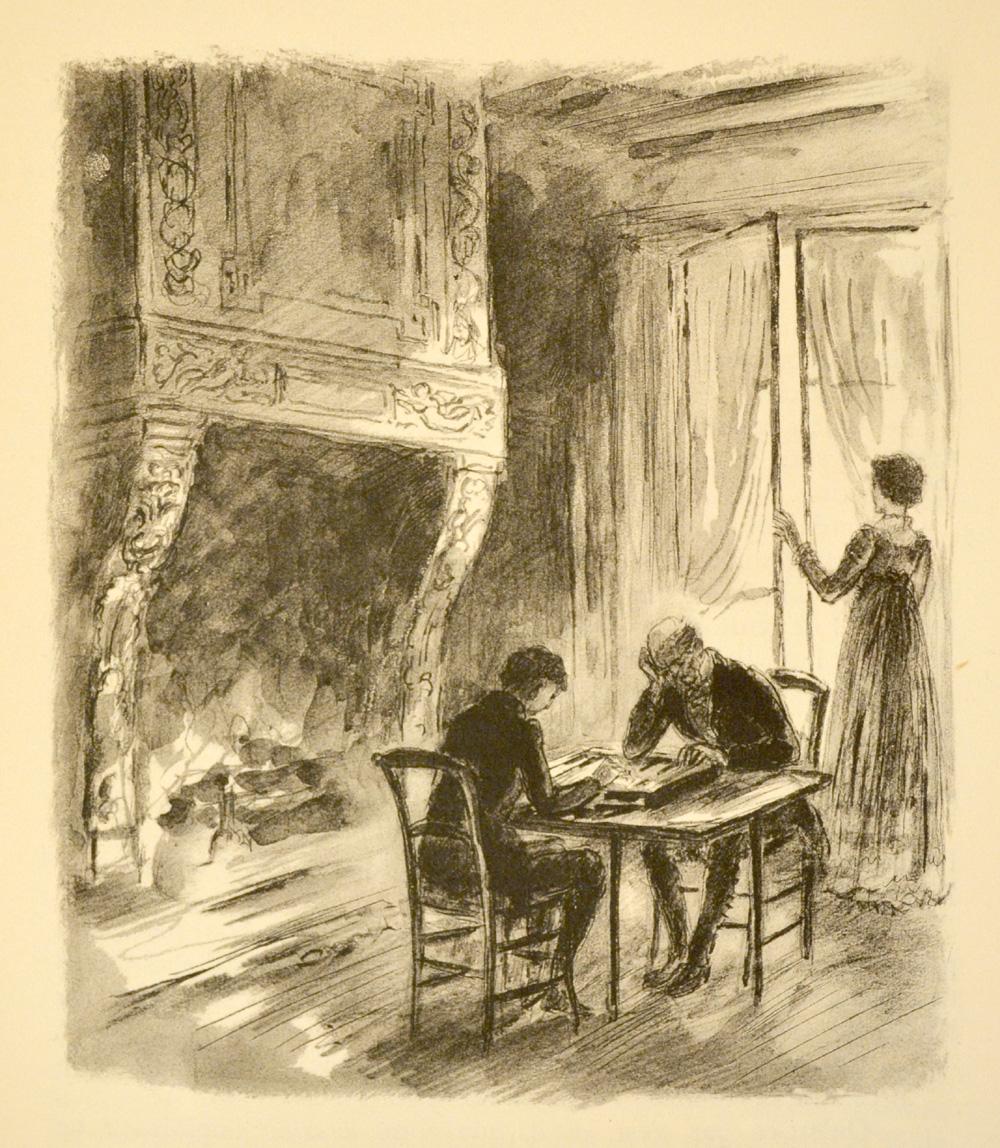 F lix et le comte de mortsauf jouant au tric trac for Devant la fenetre