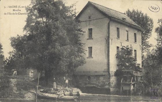 Saché, Moulin de l'île de la Chevrière