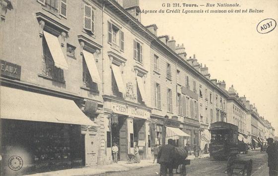 [Tours, rue Nationale, maison natale d'Honoré de Balzac]