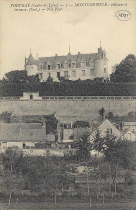 Vouvray - [Moncontour] : Château et terrasse (sud)