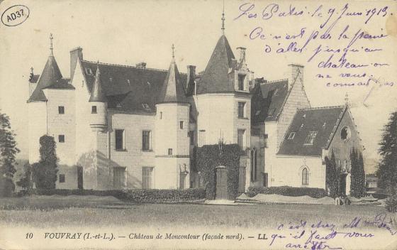 Vouvray - Château de Moncontour (façade nord)