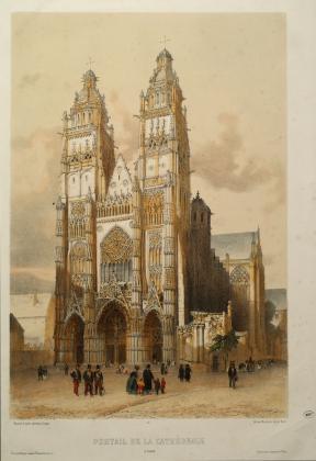 Portail de la cathédrale à Tours