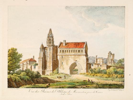 Vue des Ruines de l'Abbaye de Marmoutiers près de Tours