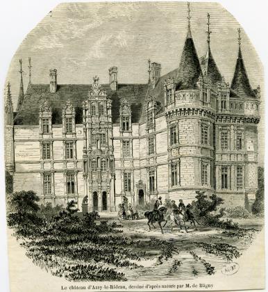 Le château d'Azay-le-Rideau, dessiné d'après nature par M. de Bligny