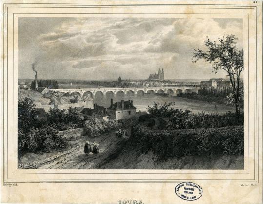 [Vue de Tours depuis Saint-Cyr-sur-Loire]