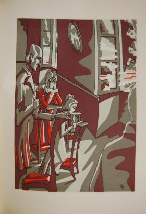 Henriette de Mortsauf, le comte et les enfants agenouillés pour la prière