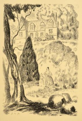 [Henriette de Mortsauf et Madeleine devant le château de Clochegourde]