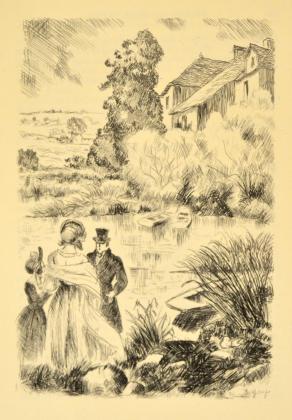[Félix, Henriette et Madeleine au bord de l'Indre]