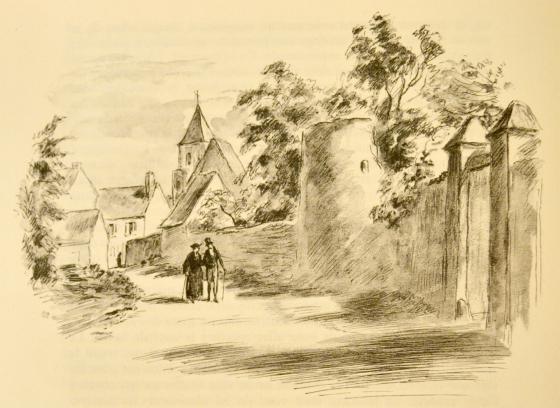 [La rue du château de Saché]