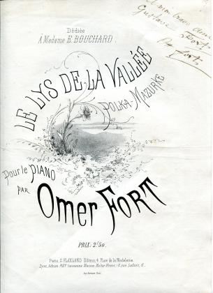 Le Lys de la vallée, polka-mazurke pour le piano (1/3)