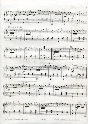 Le Lys de la vallée, polka-mazurke pour le piano (3/3)