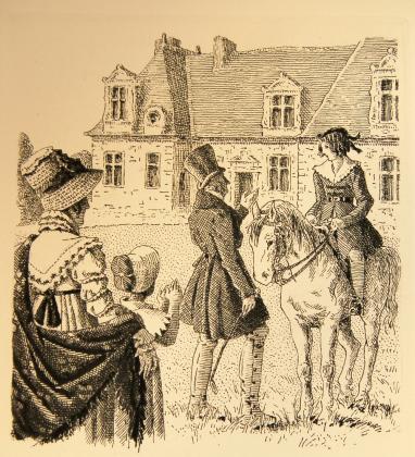 [Le comte de Mortsauf donnant une leçon d'équitation à Jacques]