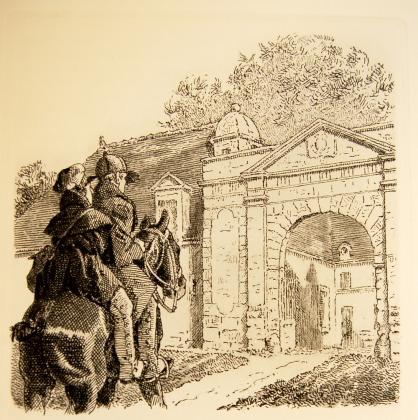 [Félix et le comte de Mortsauf arrivant au château de Clochegourde]