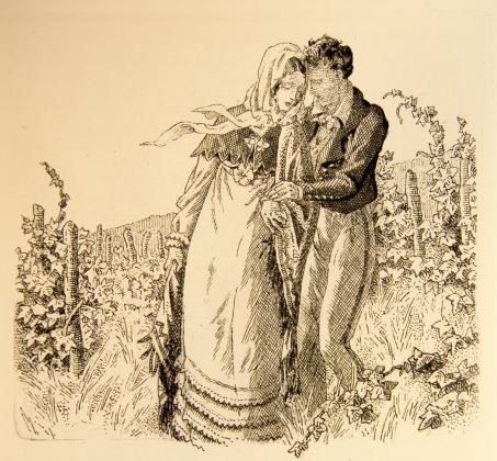[Félix et Henriette de Mortsauf au milieu des vignes]