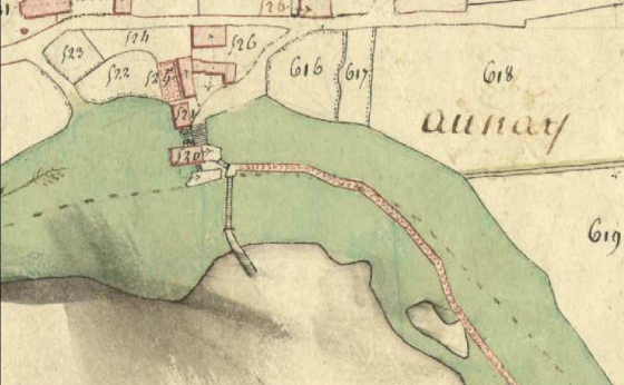 [Extrait du plan parcellaire du cadastre napoléonien de la commune d'Azay-le-Rideau]