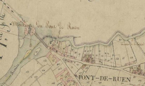 [Plan parcellaire du cadastre napoléonien de la commune de Pont-de-Ruan]