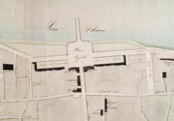 [Mairie - Extrait d'un plan de la ville de Tours - début XIXe s]