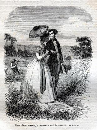 [Promenade de Félix et Henriette de Mortsauf]