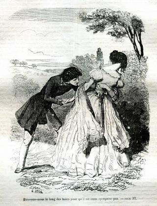 [Félix et Henriette se cachant]