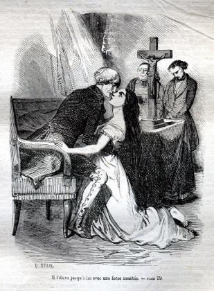 [Henriette mourante aux pieds du comte de Mortsauf]