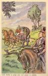[Lady Arabelle Dudley à cheval, regardant passer Henriette et Félix en calèche]