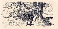 [Félix et le comte de Mortsauf se promenant au bord de l'Indre]