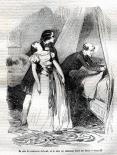 [Félix soutenant Henriette de Mortsauf évanouie, le comte préparant le lit]